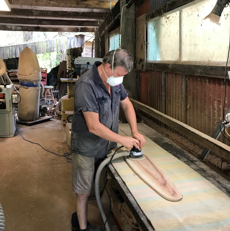 Sanding of the board